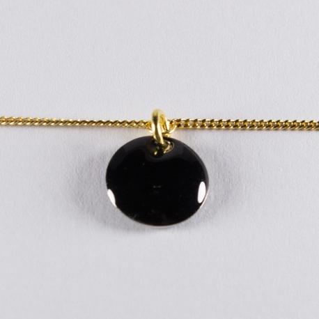 Bracelet vermeil avec confetti noir - Na na na naa