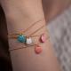 Bracelet vermeil avec confetti turquoise - Na na na naa