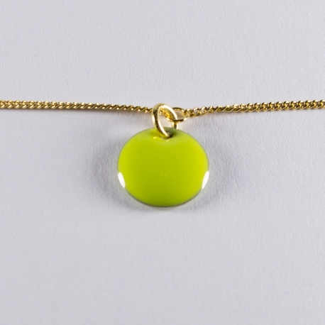 Bracelet vermeil avec confetti vert anis - Na na na naa