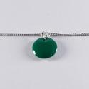 Bracelet argent avec confetti vert foncé - Na na na naa