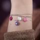 Bracelet argent avec confetti rose pale - Na na na naa