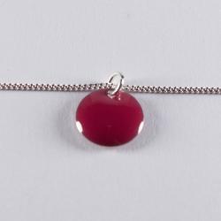 Bracelet argent avec confetti rose foncé - Na na na naa