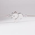 Bracelet Gaston l'ourson argent - Na na na naa