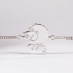 Bracelet Thibault le lionceau argent -Na na na naa
