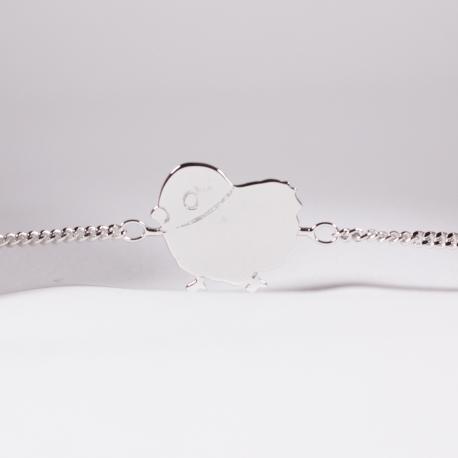 Bracelet Julien le poussin argent - Na na na naa