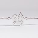 Bracelet Simon le caneton argent - Na na na naa