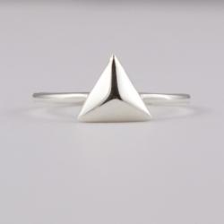 Bague Triangle argent - L'Atelier d'Olivia