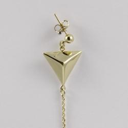 Boucles d'oreilles Triangle plaqué or - L'Atelier d'Olivia