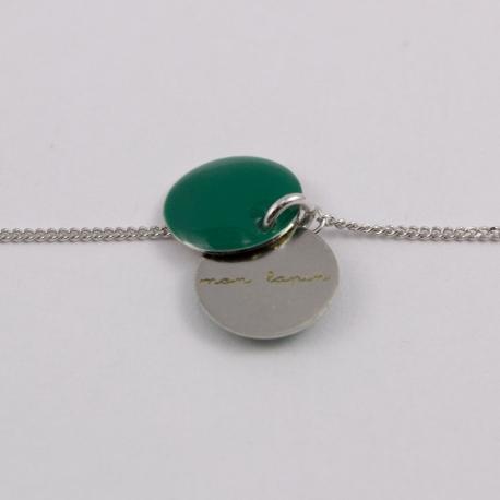 Bracelet gravé Mon lapin argent 925