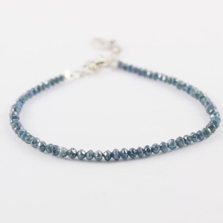 Bracelet riviere de diamant bleu brut Blue Universe