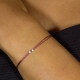 Bracelet fil bordeaux diamant bleu Blue Star