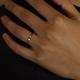 Bague diamant noir brut chaine argent noir Black Star