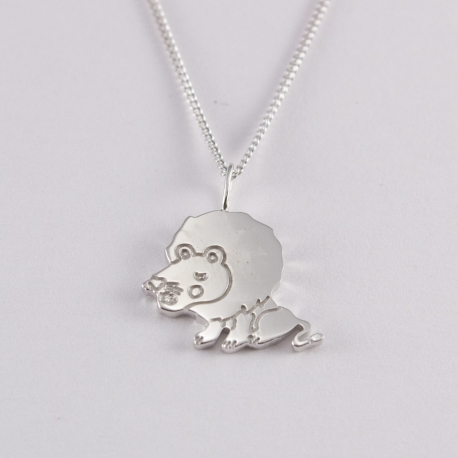 Collier lion argent na na na naa