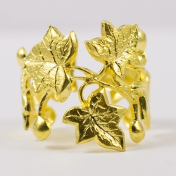 Bague lierre doré by Mélanie