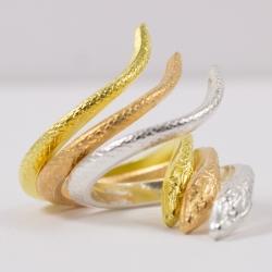 Trio bagues serpent by Mélanie