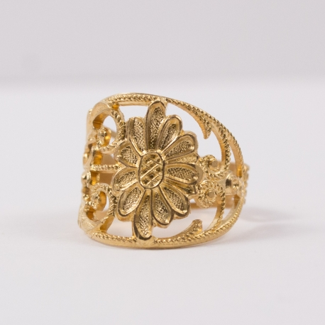 Bague marguerite doré à l'or rose by Mélanie