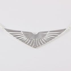 Collier ailes argenté by Mélanie