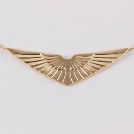 Collier ailes doré à l'or rose by Mélanie