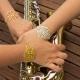 Bracelet dentelle doré by Mélanie