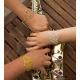 Bracelet dentelle argenté by Mélanie