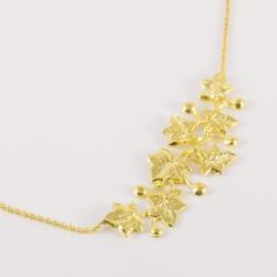 Collier feuilles de lierre doré by Mélanie