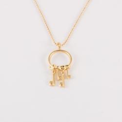Sautoir clé doré à l'or rose by Mélanie