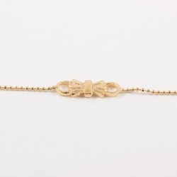 Bracelet noeud doré à l'or rose by Mélanie