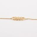 Bracelet noeud doré à l'or rose by Mélanie