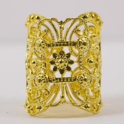 Bague dentelle doré by Mélanie