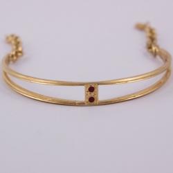 Bracelet ajouré bordeaux doré à l'or rose by Mélanie