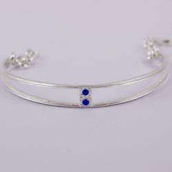 Bracelet vintage bleu argenté by Mélanie