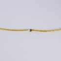 Bracelet bride argent dorée et diamant noir