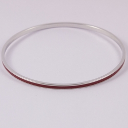 Bangle argent et émail bordeaux - na na na naa by Claire Naa