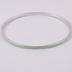 Bracelet jonc argent émaillé turquoise na na na naa bijoux