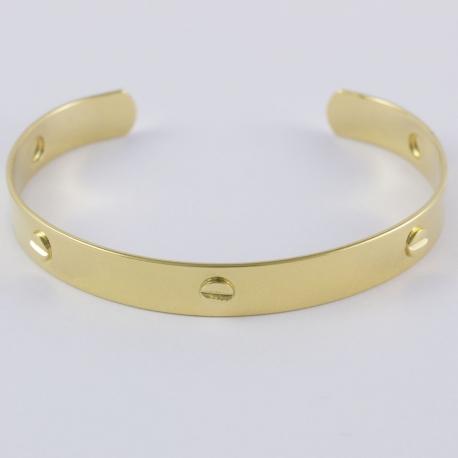 Bracelet boulon plaqué or by Mélanie