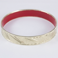 Bangle finition or pâle rouge métropolis by Mélanie
