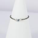 Bague solitaire chaine scintillante diamant bleu Blue Star