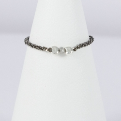 Bague lien argent et diamant Gray Star