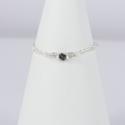 Diamant noir anneau argent scintillant Frozen Black Star