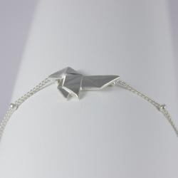 Bracelet origami plaqué argent by LFDM