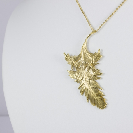 Collier plume plaqué or vif by LFDM