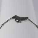 Bracelet japonais plaqué ruthénium by LFDM