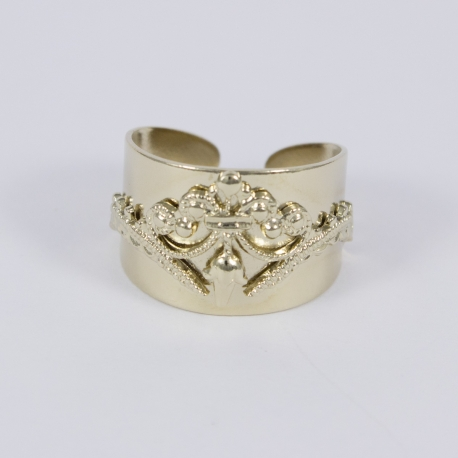 Ring lace plaqué or pâle by LFDM