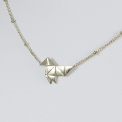 Collier origami doré or pâle by LFDM