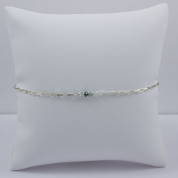 Bracelet chaine venitienne little diamant bleu brut Blue Star