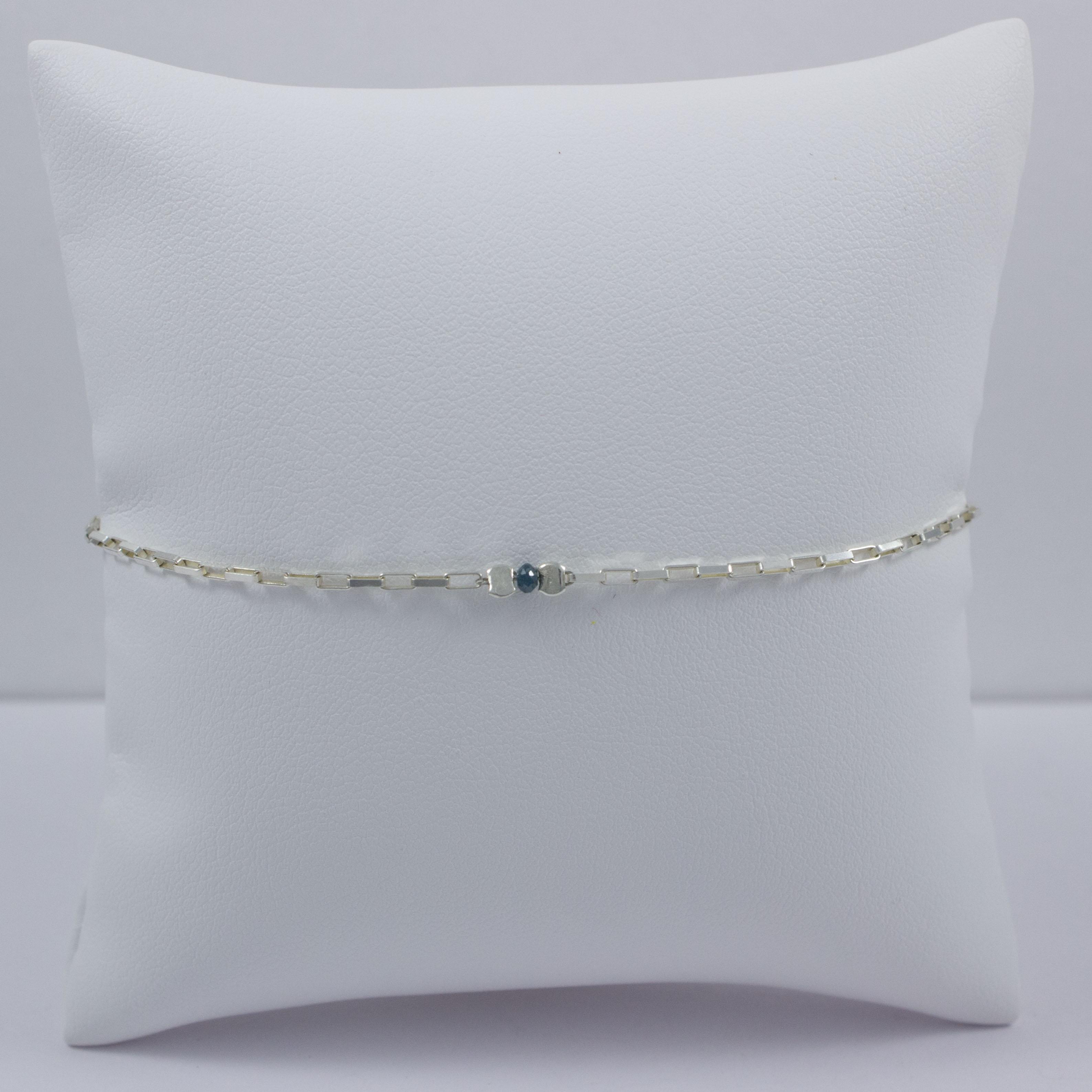 595f575a11 Bracelet chaine venitienne little diamant brut Blue Star