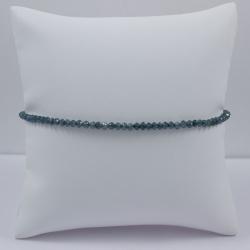 Bracelet riviere de diamant brut Blue Universe