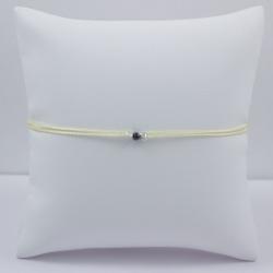 Bracelet solitaire noir brut Black Star