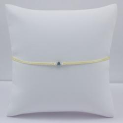 Bracelet solitaire bleu brut Blue Star