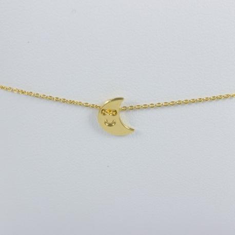Bracelet lune or - Les Curiosités d'Elixir